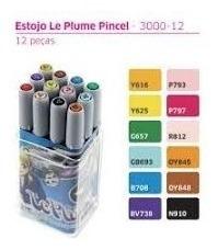 20 x cores top caneta pincel brush marvy uchida le plume