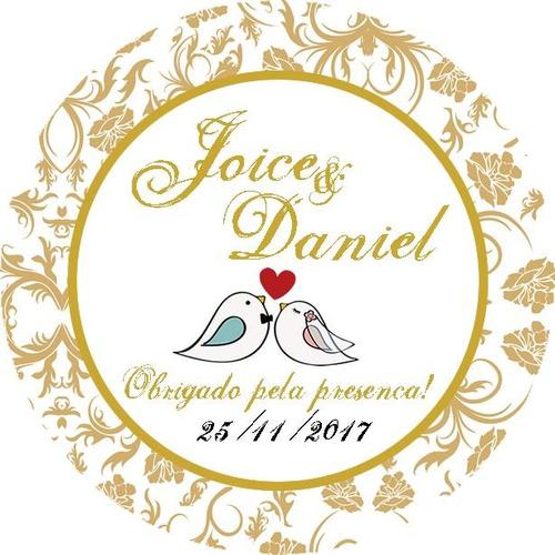 200 adesivos personalizados lembrancinhas casamento + brinde