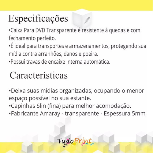 200 box estojo case capinha dvd cd capa transparente redondo