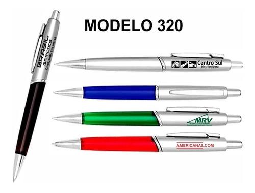 200 canetas personalizadas com sua logo + 1 chaveiro brinde