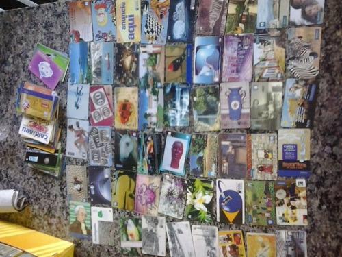 200 cartões telefônicos bem conservados diferentes + brinde