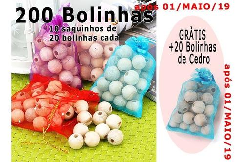 200 cedro anti traça mofo bolor c/ furo em 10 sacos + brinde