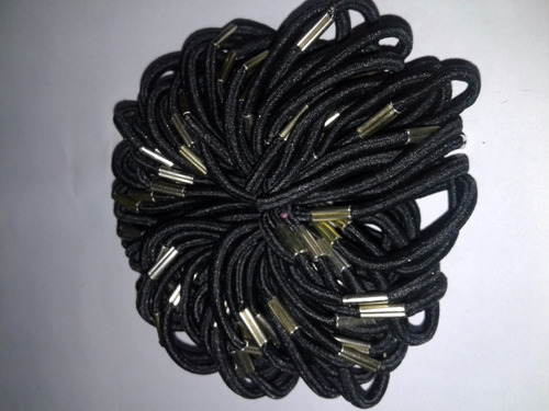 200 colitas gomitas para el pelo negras  o variedad colores