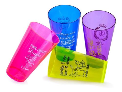 200 copos caldereta 320ml acrílico personalizados 15 anos