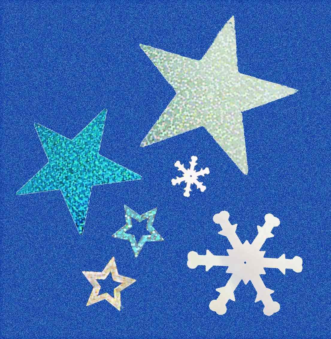 200 copos de nieve y estrellas glitter fiesta frozen for Estrella de nieve