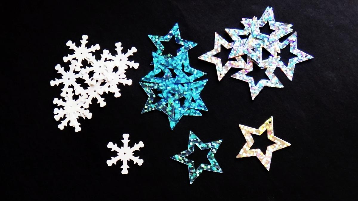 Vector Copo De Nieve: Estrellas Copos De Nieve En Cuadrícula Descargar Vectores
