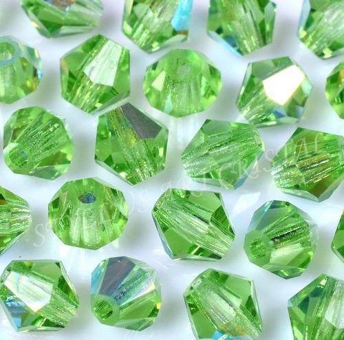 200 cristais balão preciosa 04mm peridot boreal  bordados