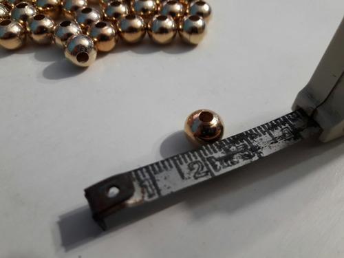 200 cuentas de metal doradas n°8 - bijouterie