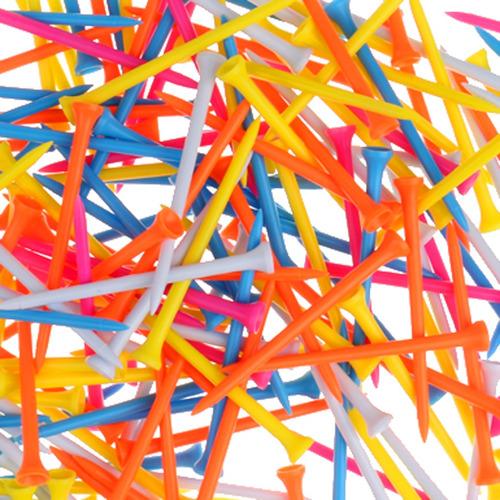 200 de plástico de color mezclado de golf tees de golf de l