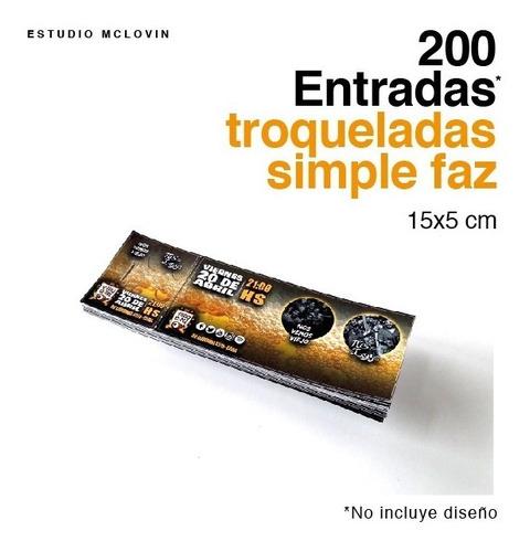200 entradas 15x5 simple faz 180g troqueladas