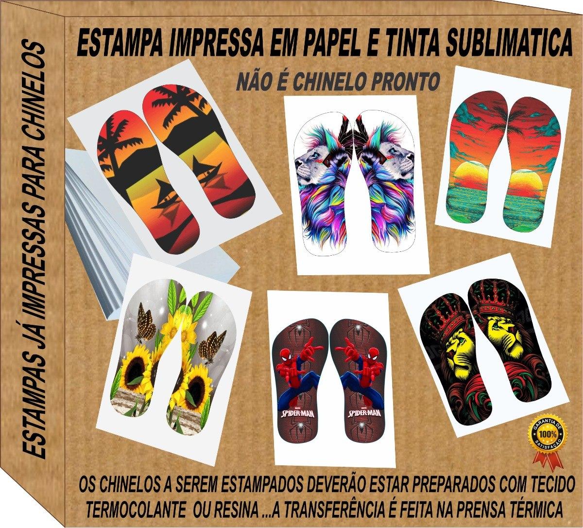 8444a29f3 200 Estampas Sublimatica Impressa P/ Chinelos - R$ 176,00 em Mercado ...