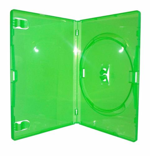 200 estojos capa dvd verde amaray original