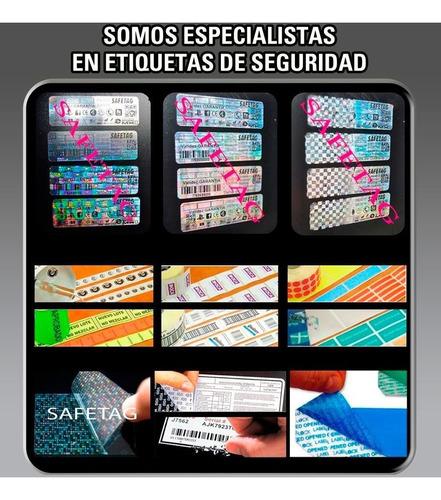 200 etiquetas seguridad void destructibles holograma 32x15 - fajas garantia reparaciones productos equipos documentos