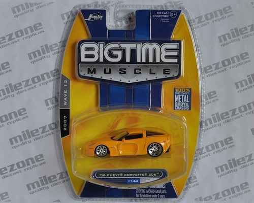 200 - jada bigtime muscle r12  '06 chevy corvette - yellow
