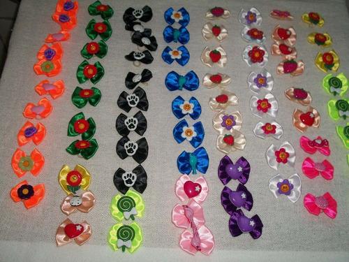 200 laços com lindos botões