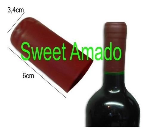 200 lacre termoencolhível p/ vinho cor bordo 3,4cm x 6cm