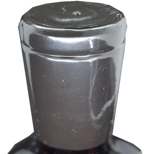 200 lacre termoencolhível p/ vinho cor preto 3,4cm x 6cm