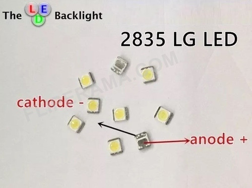 200 leds tv lg 2835 3v 1w 47ln5460 novo e original