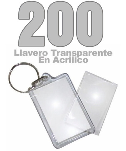 200 llaveros acrílicos portafotos mitiendacl