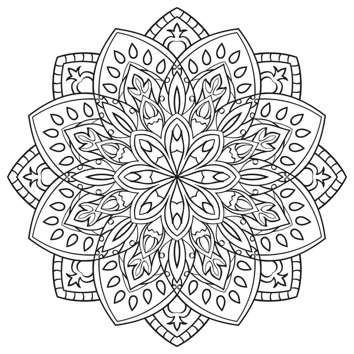 200 Mandalas Para Colorear Imprimibles Libro Digital (pdf) - Bs ...