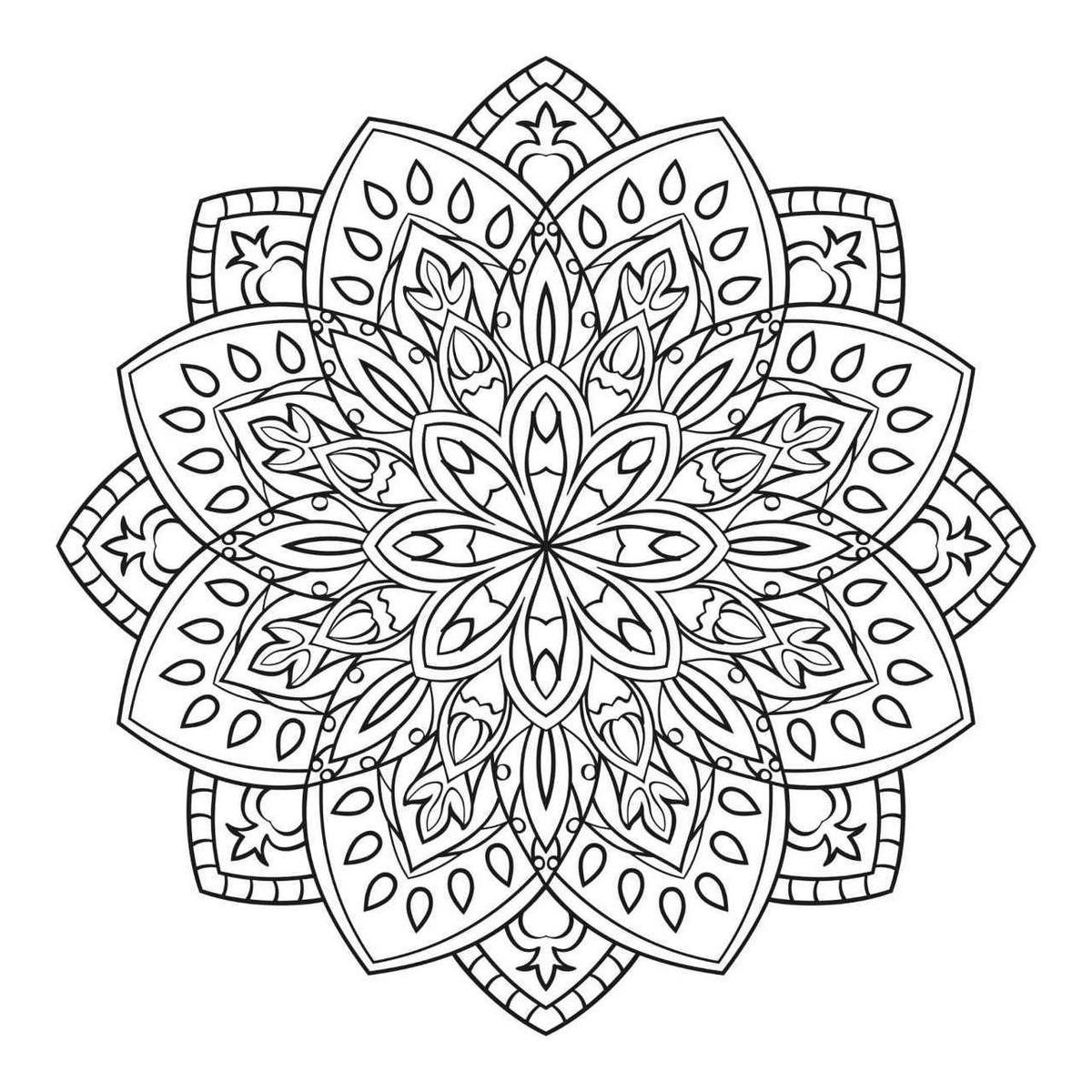 200 Mandalas Para Colorear Imprimibles Libro Digital Pdf