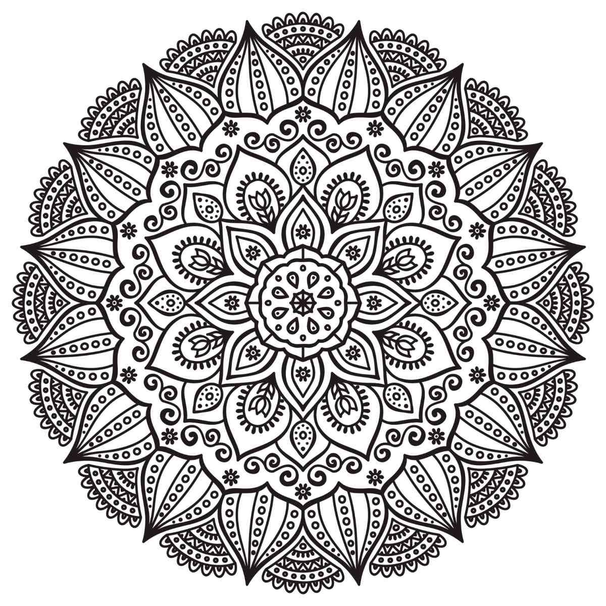200 Mandalas Para Colorear Imprimibles Libro Digital (pdf) - Bs. 0 ...