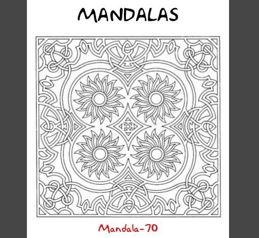 200 Mandalas Para Colorear Libro Digital Imprimible Pdf