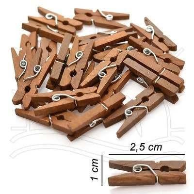 200 mini pregadores de madeira - prendedores natural roupas
