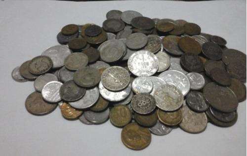 200 moedas antigas (prata,bronze,níquel,aço)