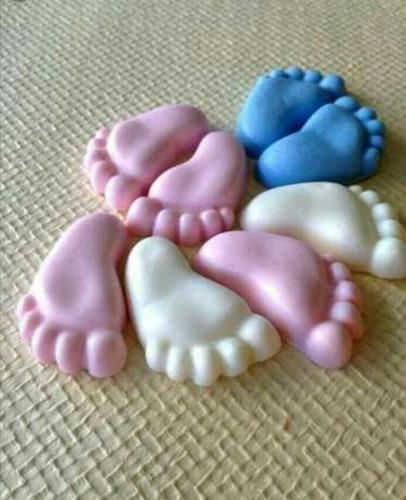 200 pezinhos sabonete lembrança bebê (100 pares) promoção