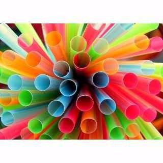 200 pitillos plásticos grueso 18cm vasos frappe industria a.