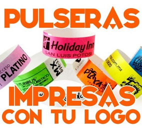 f892da21122a 200 Pulseras Personalizadas Tyvek Eventos Fiestas Hotel Xv