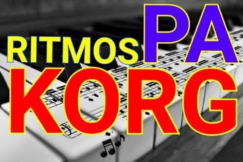 200 ritmos korg pa profissionais