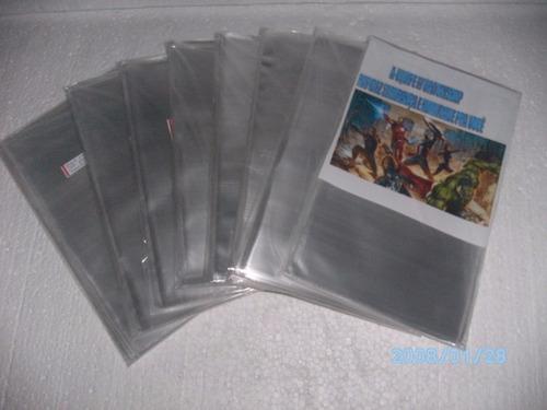 200 sacos plásticos (tam-15x30cm) p hqs formatinhos equipefj