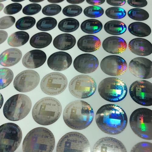 200 sellos holográficos made in chile seguridad garantía