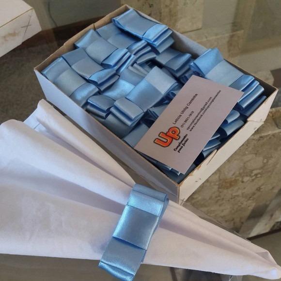 200 Unidades De Porta Guardanapos Laco Chanel Fita Cetim R 180
