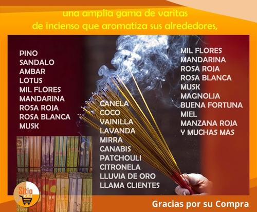 200 varitas de incienso aromatizadas+obsequio portaincienso
