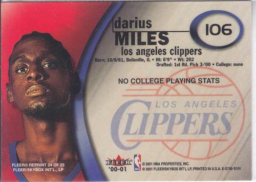 2000-01 e-x darius miles clippers