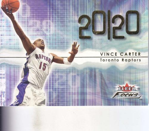 2000-01 fleer focus 20120 vince carter raptors