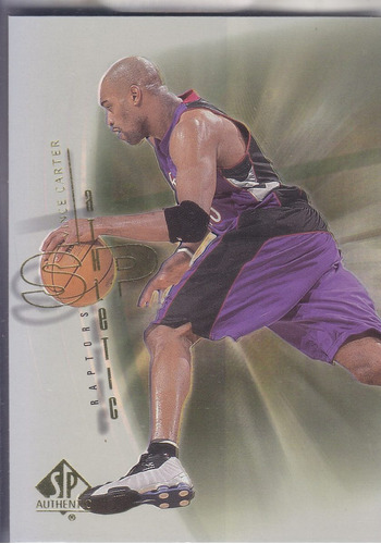 2000-01 sp authentic athletic vince carter raptors