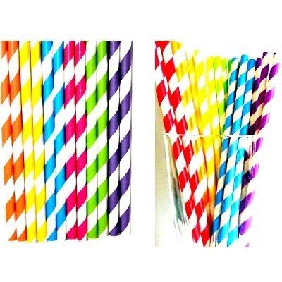 2000 canudo de papel vintage colorido ecologicamente correto