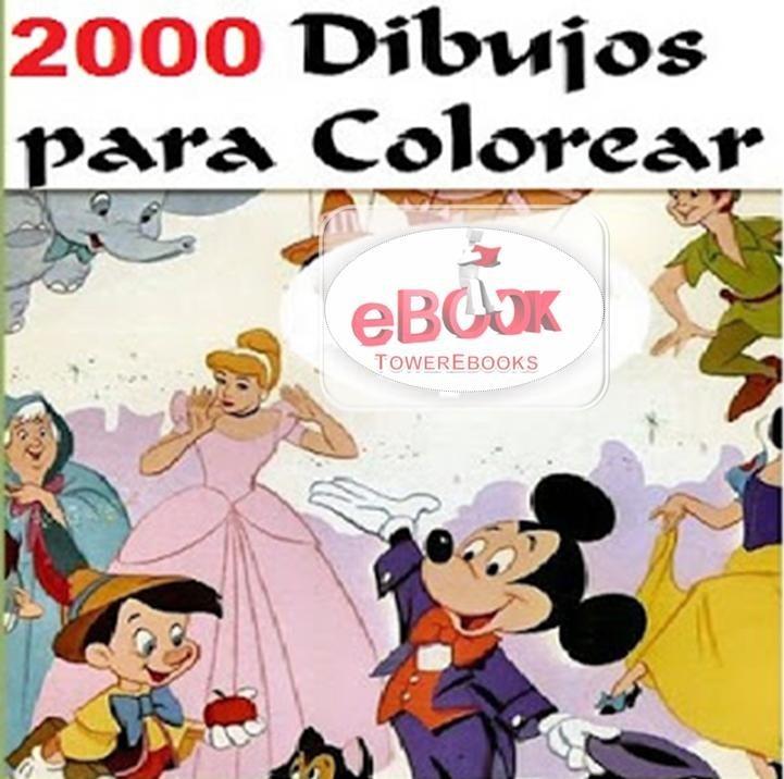 2000 Dibujos Para Colorear Disney - Envio A Su Email - $ 45,00 en ...
