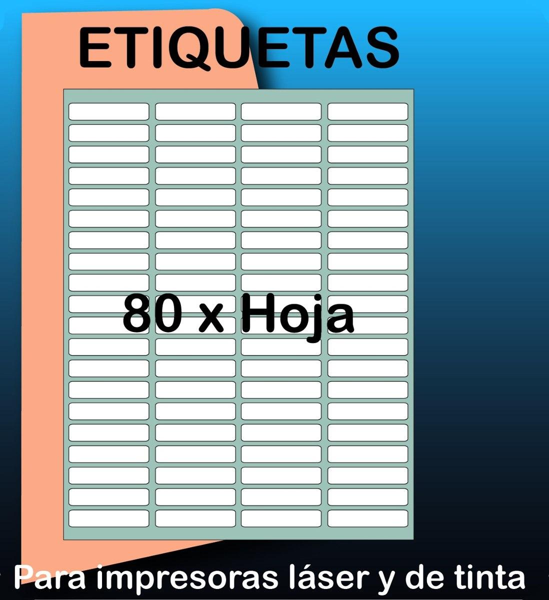 2000 Etiquetas Autoadhesivas De 4.4 X 1.3 Cm Precortadas - Bs. 488 ...