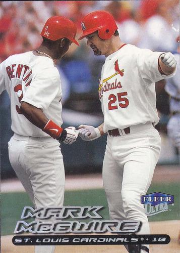 2000 fleer ultra mark mcgwire 1b cardinals