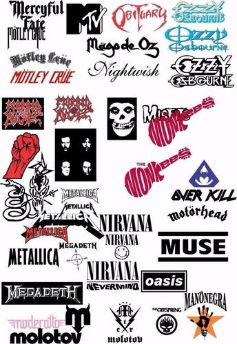 2000 logos bandas de rock vectores estampado corte sublimado