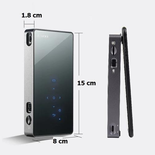 2000 lúmenes android 7.1.2 dlp 1g/8g mini proyector portátil