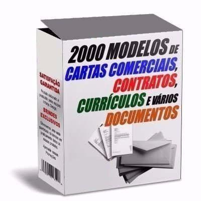 2000 modelos de cartas, contratos e documentos diversos