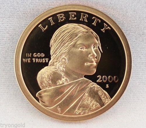 2000-s. $1 dolar sacagawea condicion sin circular.