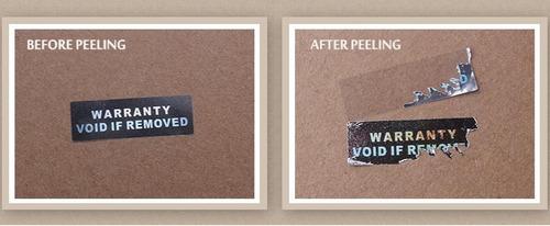 2000 selos holográficos lacre de segurança void 30x10mm