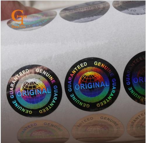 2000 selos holográficos void original genuine prata 20mm
